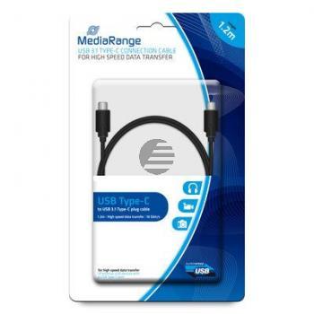 MEDIARANGE USB KABEL TYP C 1,2m MRCS161 USB 3.1 schwarz