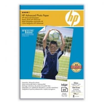 HP Fotopapier glänzend 25 Blatt 10 x 15 cm 250 g/m² (Q8691A)