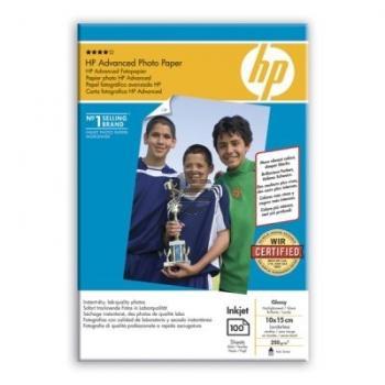HP Fotopapier glänzend 100 Blatt 10 x 15 cm 250 g/m² (Q8692A)