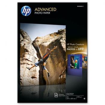 HP Fotopapier glänzend 20 Blatt DIN A3 250 g/m² (Q8697A)
