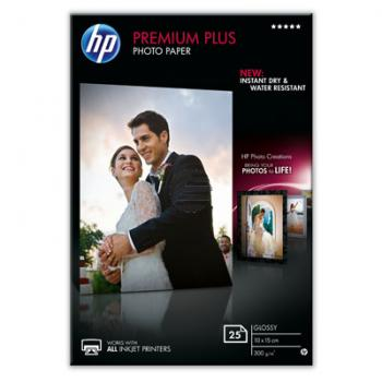 HP Fotopapier glänzend 25 Blatt 10 x 15 cm 300 g/m² (CR677A)