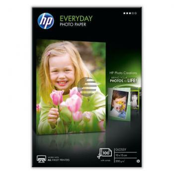 HP Fotopapier glänzend 100 Blatt 10 x 15 cm 200 g/m² (CR757A)