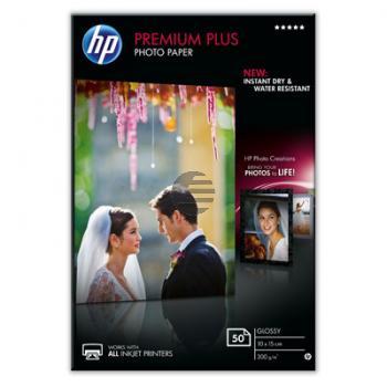HP Fotopapier glänzend 50 Blatt 10 x 15 cm 300 g/m² (CR695A)