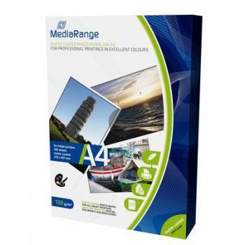 MediaRange Fotopapier matt 100 Blatt DIN A4 130 g/m² (MRINK101)