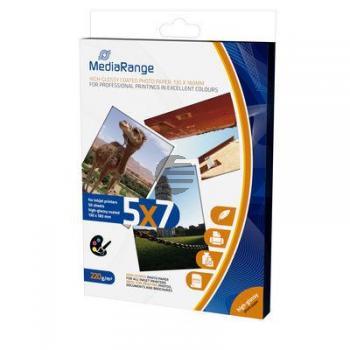 MediaRange Fotopapier glänzend weiß 125 Blatt 13 x 18 cm 220 g/m² (MRINK114)