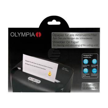 9130 OLYMPIA OELPAPIER A5 12Blatt fuer Aktenvernichter