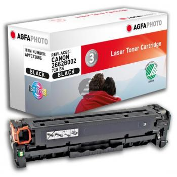 Agfaphoto Toner-Kartusche schwarz (APTC718BE) ersetzt 2662B002 / CL-718BK