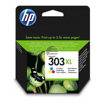 HP Tintendruckkopf cyan/gelb/magenta HC (T6N03AE, 303XL)