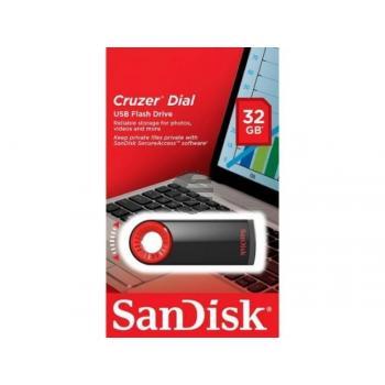 SANDISK DIAL USB STICK 32GB SDCZ57-032G-B35 USB 2.0 schwarz-rot