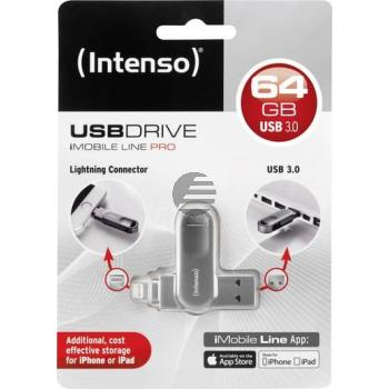 INTENSO IMOBILE LINE PRO USB STICK 64GB 3535590 USB 3.0 Superspeed FAT32