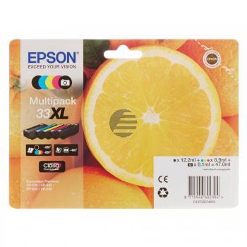 Epson Tintenpatrone with secure gelb cyan magenta schwarz photo schwarz HC (C13T33574011, T3357)