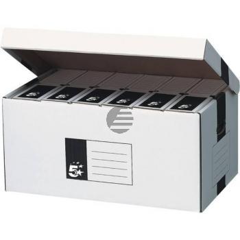 5 Star Archivschachteln Karton weiß 520 x 260 x 340 mm Deckel oben