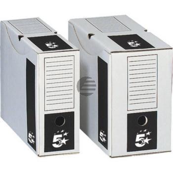 5 Star Archivschachteln Karton weiß 250 x 330 x 100 mm