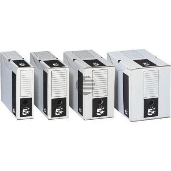 5 Star Archivschachteln Karton weiß 250 x 330 x 80 mm