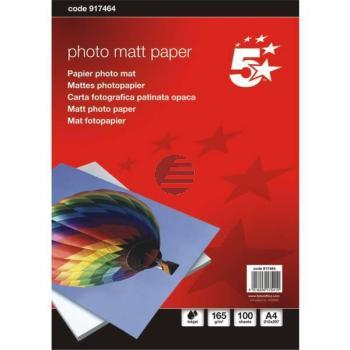 5 Star Inkjetpapier A4 165 g/qm Inh.100 matt