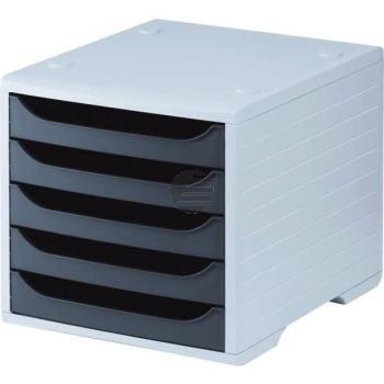 5 Star Büroboxen Kunststoff grau/anthrazit 270 x 340 x 255 mm