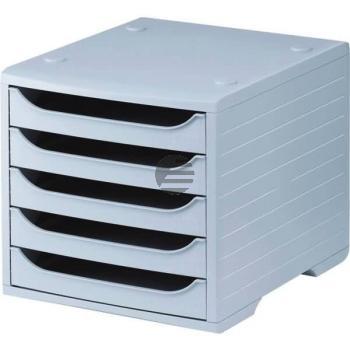 5 Star Büroboxen Kunststoff grau/grau 270 x 340 x 255 mm