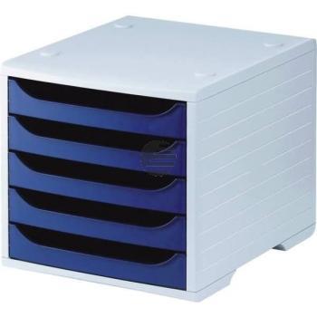 5 Star Büroboxen Kunststoff grau/blau