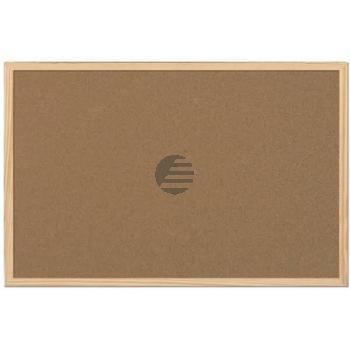 5 Star Korktafel m. Holzrahmen braun 60 x 100 cm