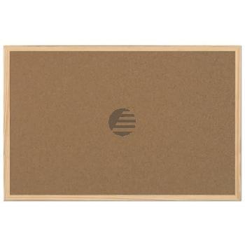 5 Star Korktafel m. Holzrahmen braun 90 x 60 cm