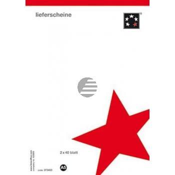 5 Star Lieferscheine A5 selbstdurchschreibend Inh.2 x 40 Blatt hoch weiss/gelb