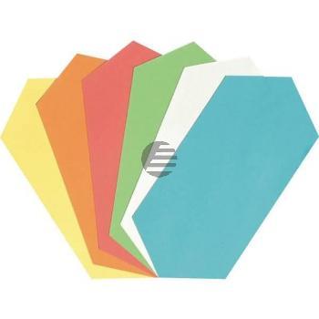 5 Star Moderationskarten Rhombus 9,5 x 20,0 cm sortiert Inh.250