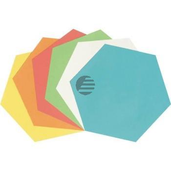 5 Star Moderationskarten Wabe 16,5 x 110 cm sortiert Inh.250 130 g/qm