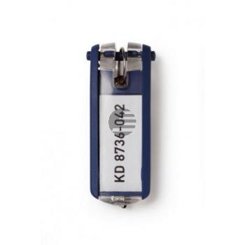 Durable Schlüsselanhänger Key Clip dunkelblau Inh.6