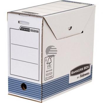 Fellowes Archivbox für Hängeregistratur blau/weiß 156 x 325 x 310 mm