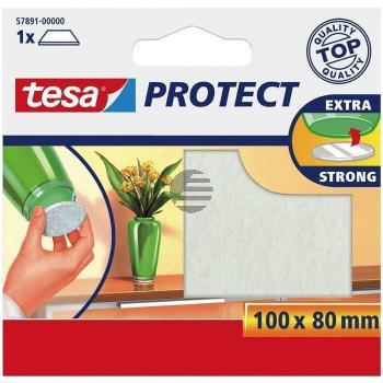 Tesa Protect Filzgleiter 100 x 80 mm weiß