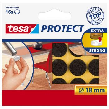 Tesa Protect Filzgleiter ø 18 mm braun Inh.16