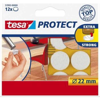 Tesa Protect Filzgleiter ø 22 mm weiß Inh.12
