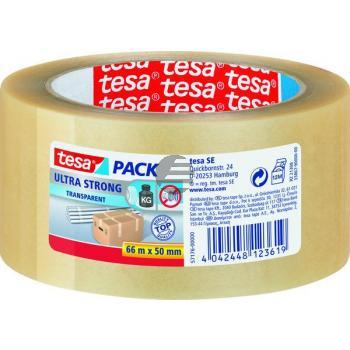 Tesapack Packband Ultra Strong 50 mm x 66 m transparent