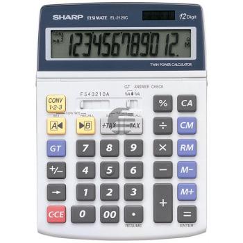 Sharp Tischrechner EL-2125C 12-stellig solar/Batterie