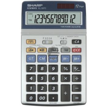 Sharp Tischrechner EL-337C 12-stellig solar/Batterie