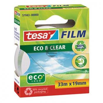 Tesa Film Eco & Clear 19 mm x 33 m braun