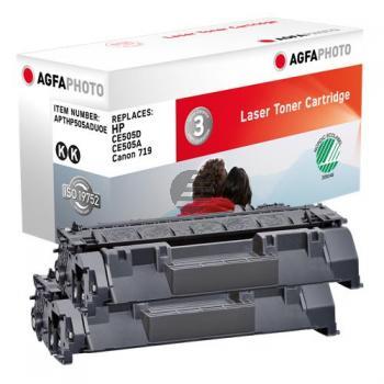 Agfaphoto Toner-Kartusche 2 x schwarz (APTHP505ADUOE) ersetzt CE505D / 05D