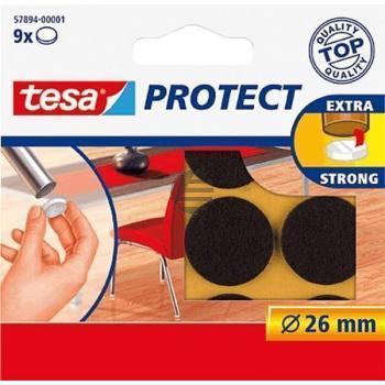 Tesa Protect Filzgleiter ø 26 mm braun Inh.9