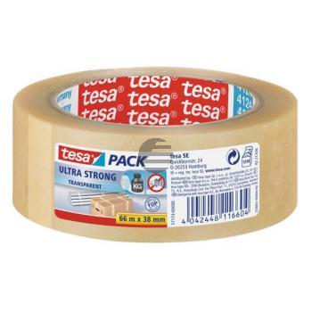 Tesapack Packband Ultra Strong 38 mm x 66 m transparent