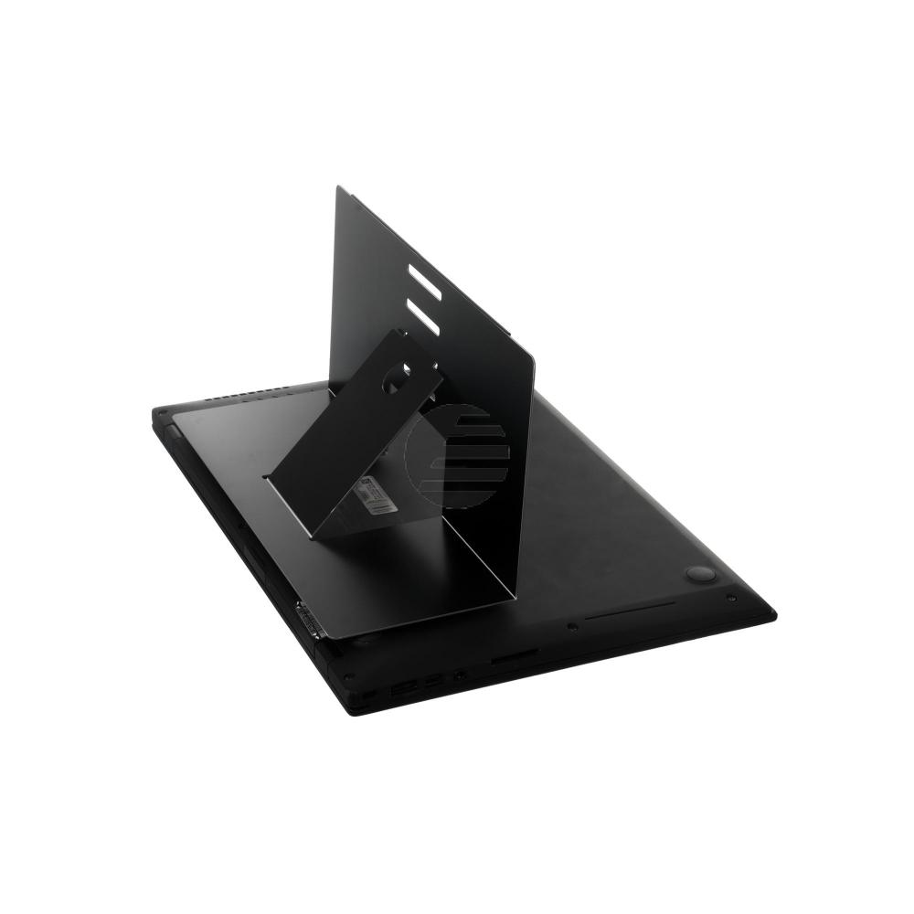 R-GO RISER ATTACHABLE LAPTOPSTAENDER RGORIATBL Aluminium 4Positionen schwarz