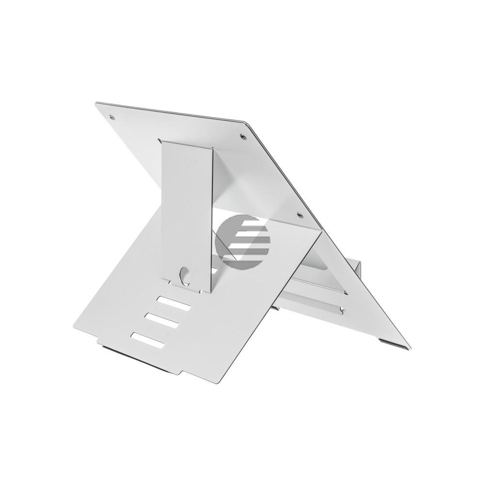 R-GO RISER ATTACHABLE LAPTOPSTAENDER RGORISTWH Aluminium 5Positionen weiss