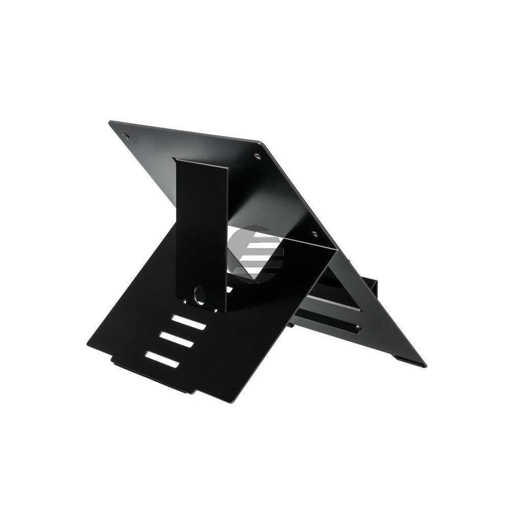 R-GO RISER ATTACHABLE LAPTOPSTAENDER RGORISTBL Aluminium 5Positionen schwarz