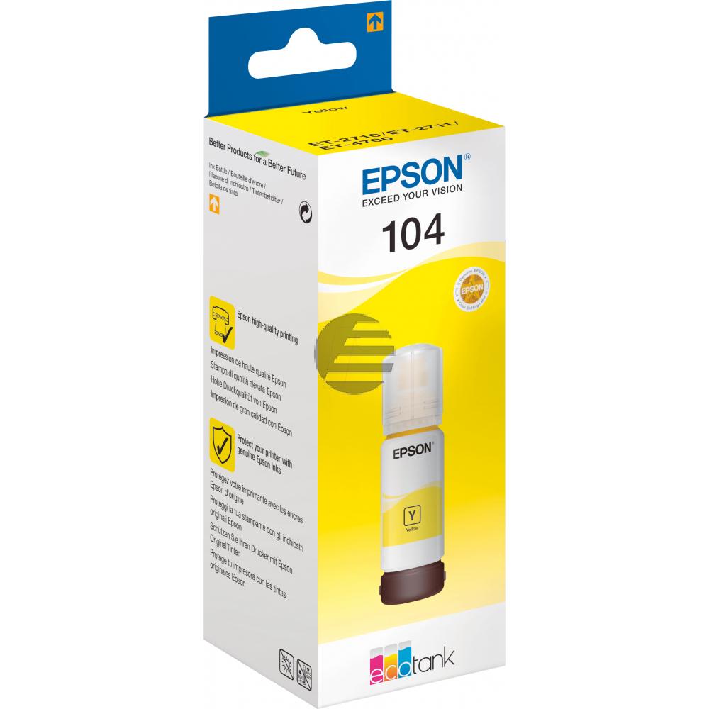 Epson Tintennachfüllfläschchen (ecotank) gelb (C13T00P440, 104)