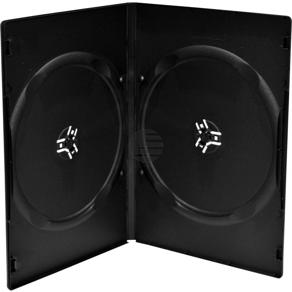 MEDIARANGE SLIM CASE FUER 2STUECK (10) BOX34 schwarz 9mm