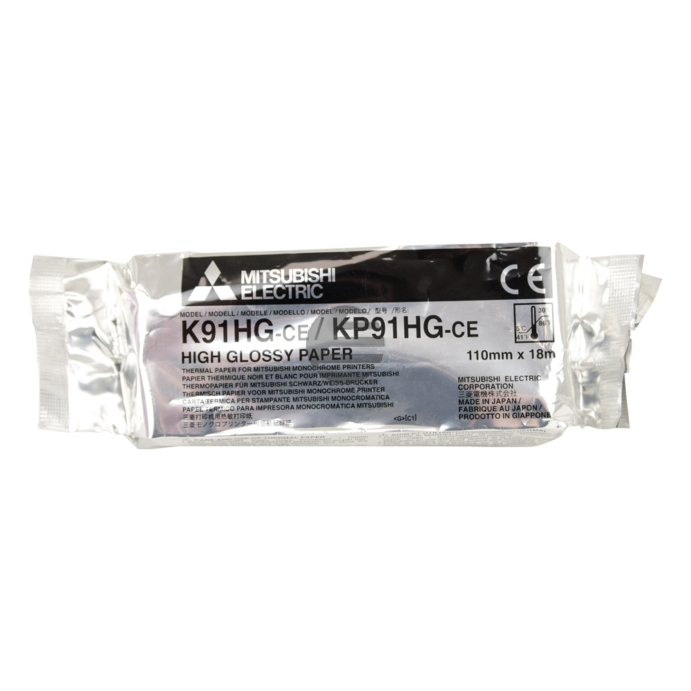 Mitsubishi Thermo-Papier-Rolle High Glossy Paper blue tone (KP91HG-CE)
