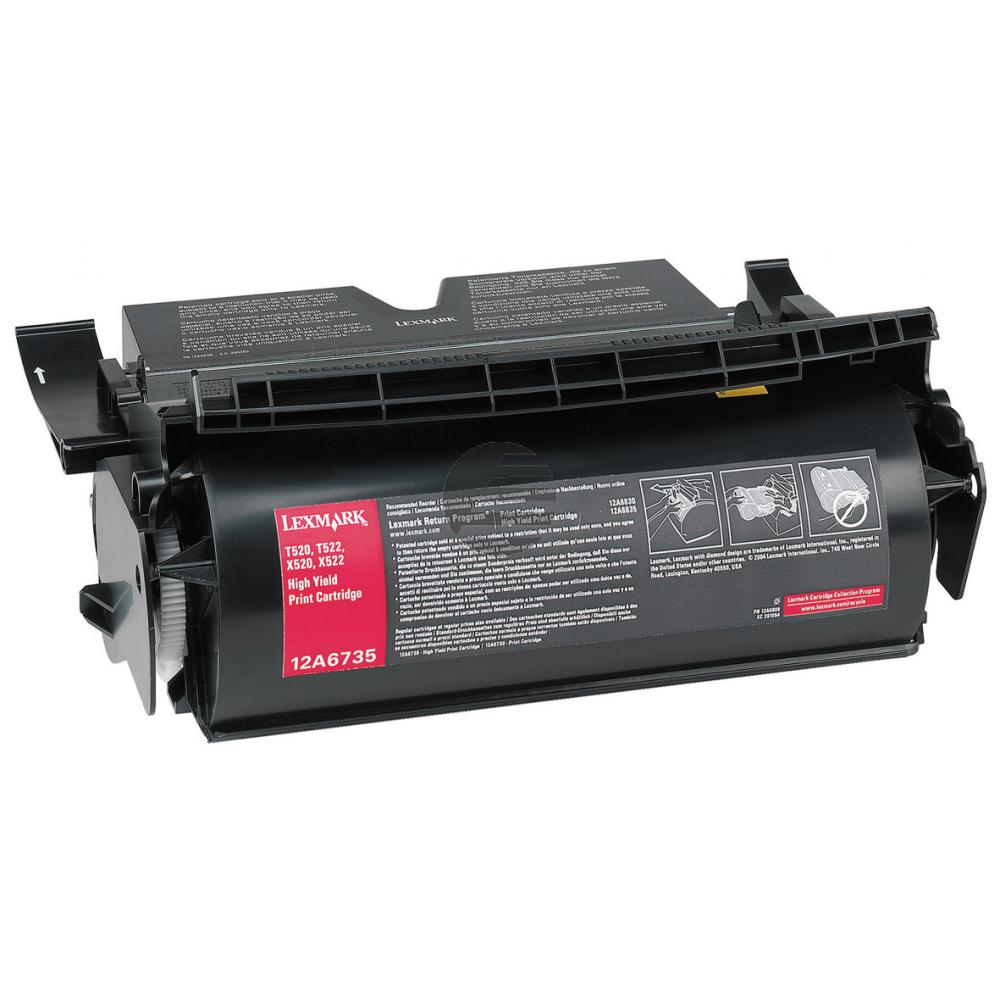 Lexmark Toner-Kartusche schwarz HC (12A6735)