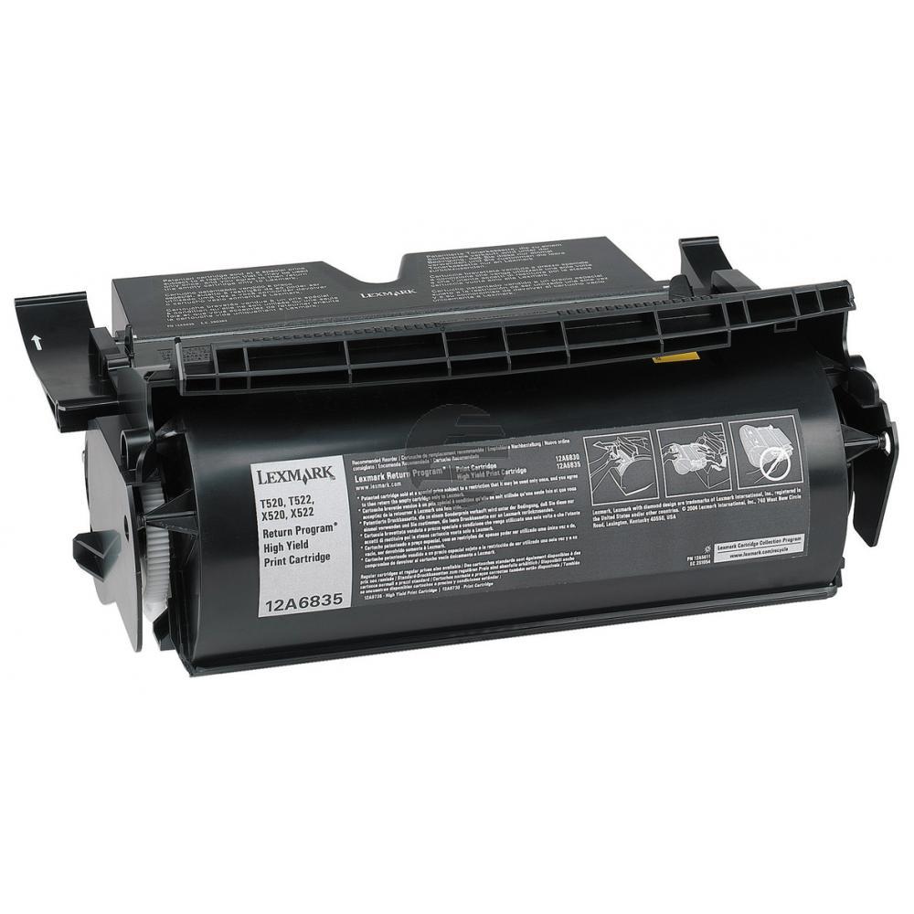 Lexmark Toner-Kartusche Prebate schwarz HC (12A6835)