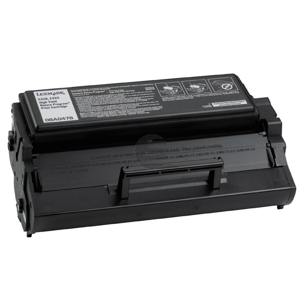 Lexmark Toner-Kartusche Prebate schwarz HC (08A0478)
