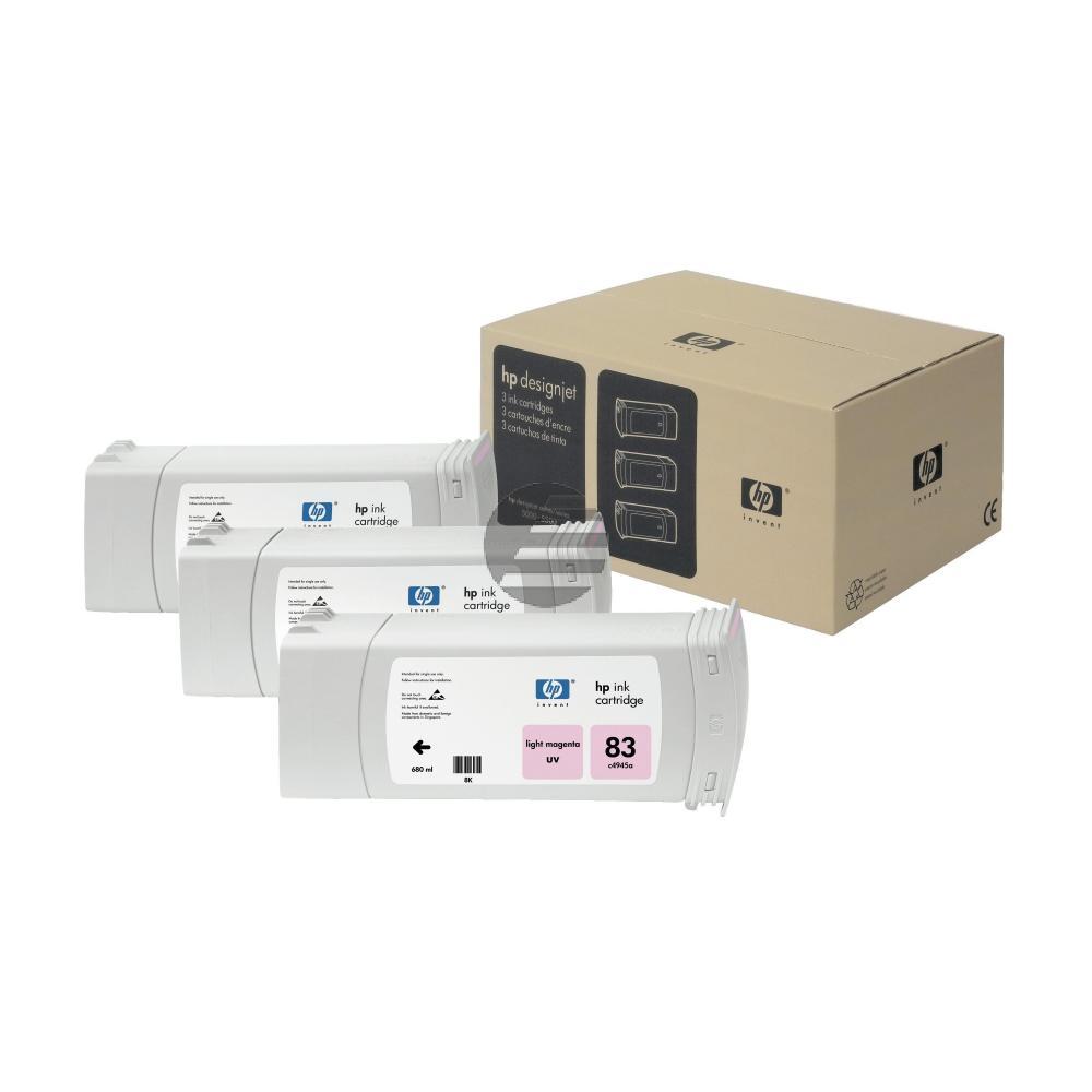 HP Tintenpatrone UV-Tintensystem 3 x magenta light (C5077A, 83)