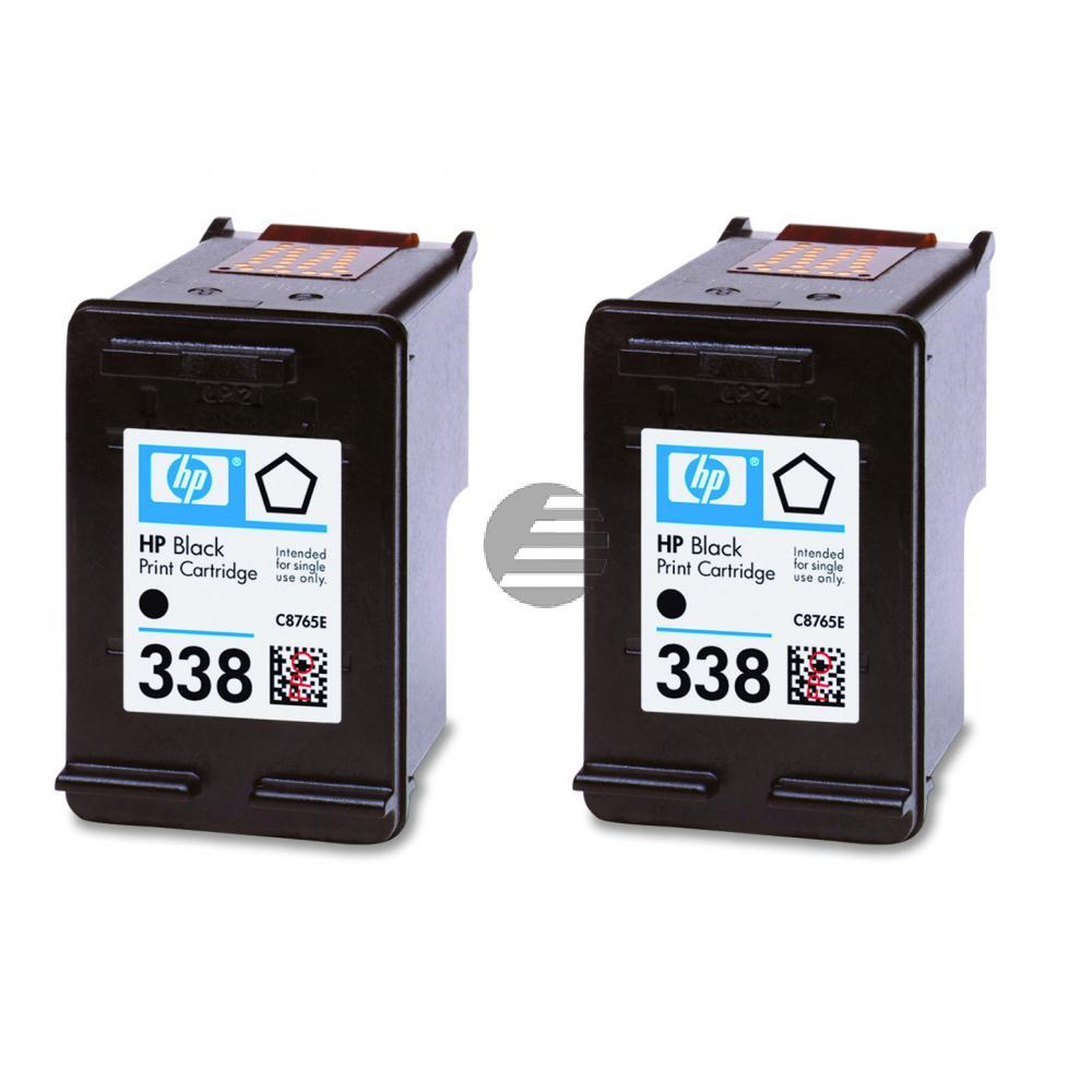 HP Tintenpatrone 2x schwarz (CB331EE, 2x 338)
